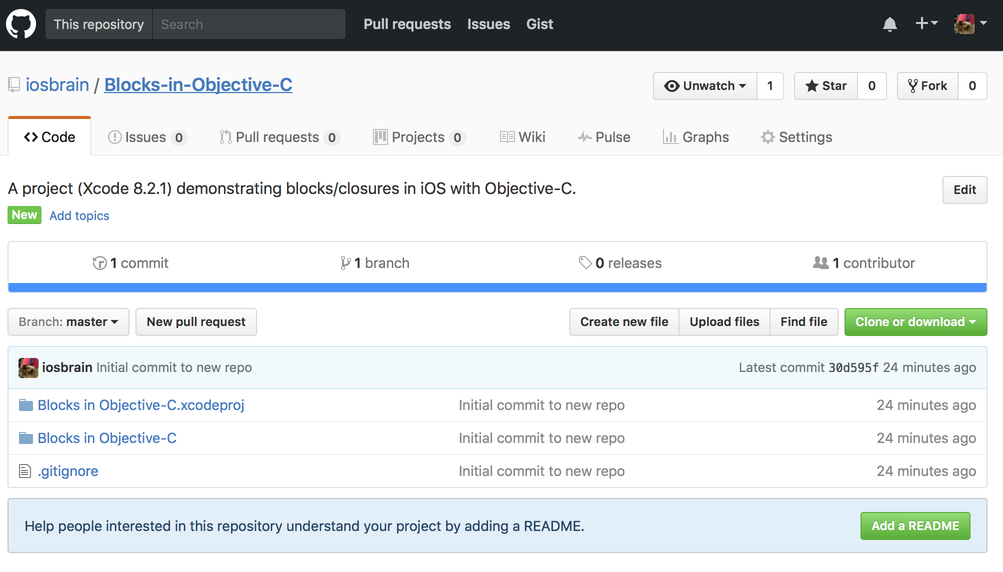 Creating a new Git/GitHub repository for your Xcode project