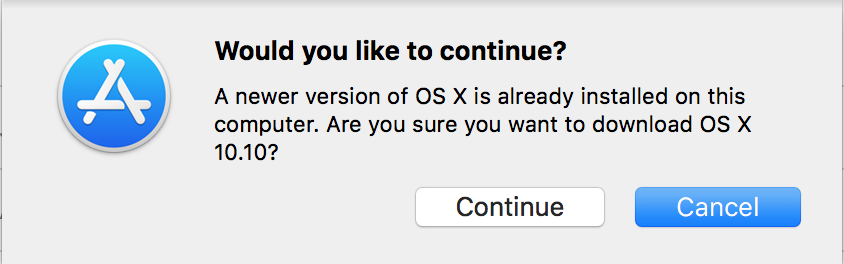 Downloading and installing an old version of OS X (mac OS) on your