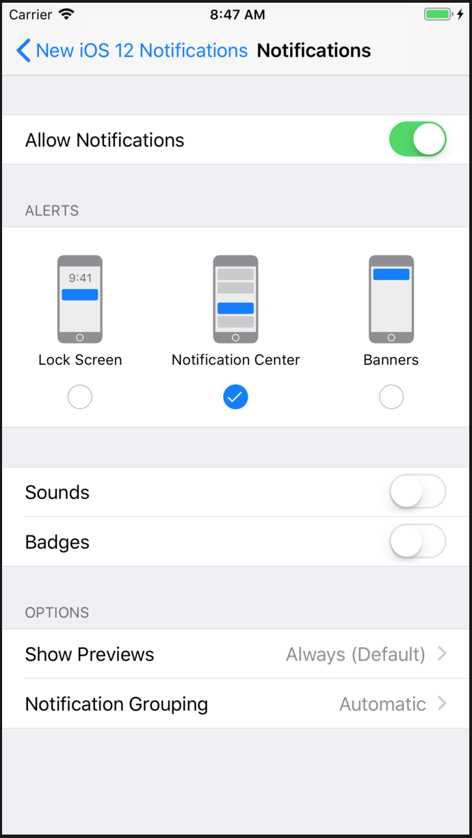 New in iOS 12 – Implementing Provisional Authorization for